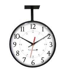 Innovation Wireless Black Hanging Clock-2